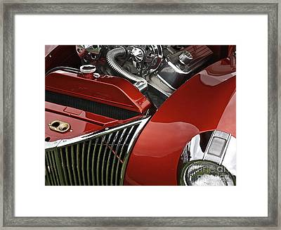 Candy Apple Red And Chrome Framed Print