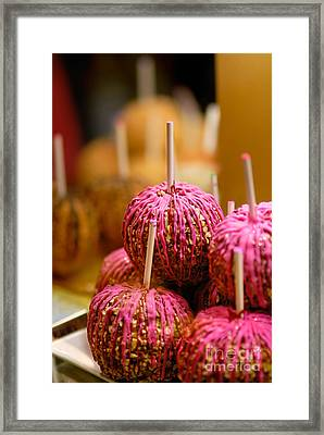 Candy Apples Framed Print by Amy Cicconi