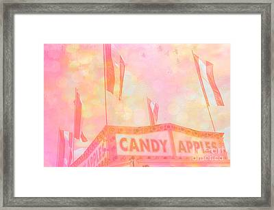 Candy Apples Carnival Festival Fair Stand  Framed Print by Kathy Fornal