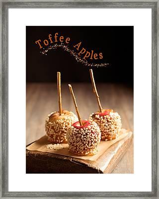Candy Apples Framed Print by Amanda Elwell