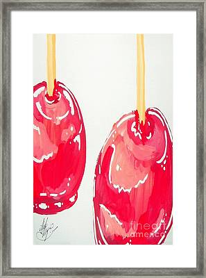 Framed Print featuring the painting Candy Apples by Marisela Mungia