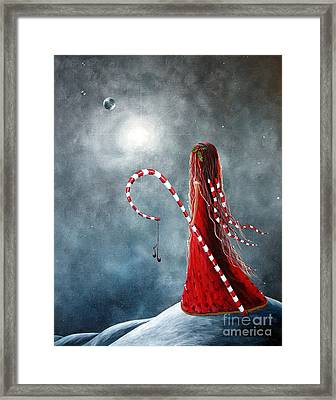 Candy Cane Fairy By Shawna Erback Framed Print by Shawna Erback