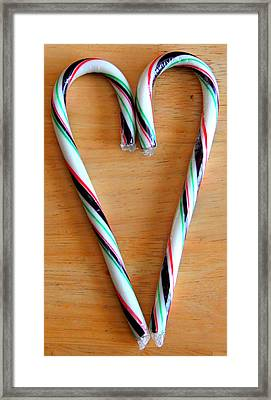 Candy Cane Lane Framed Print