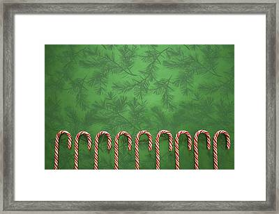 Candy Canes Framed Print by Colette Scharf