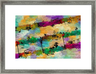 Framed Print featuring the digital art Candy-coated Chords 1 by Lon Chaffin
