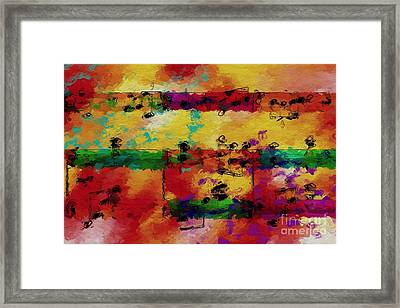 Framed Print featuring the digital art Candy-coated Chords 2 by Lon Chaffin