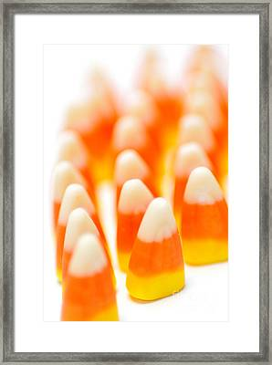 Candy Corn Army Framed Print by Amy Cicconi