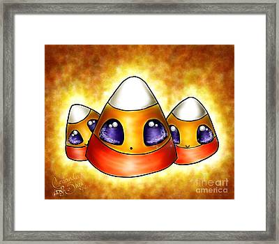 Candy Corn Framed Print by Coriander  Shea