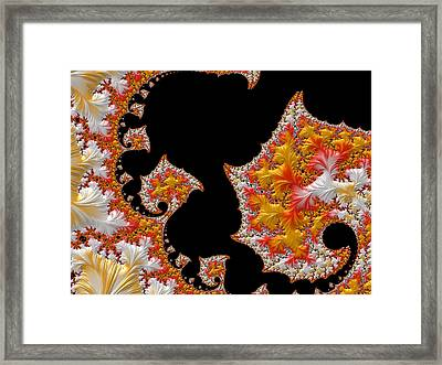 Framed Print featuring the digital art Candy Corn by Susan Maxwell Schmidt