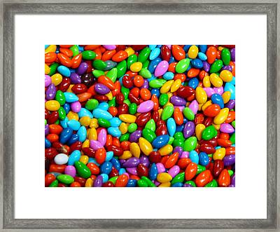 Candy Covered Almonds Framed Print