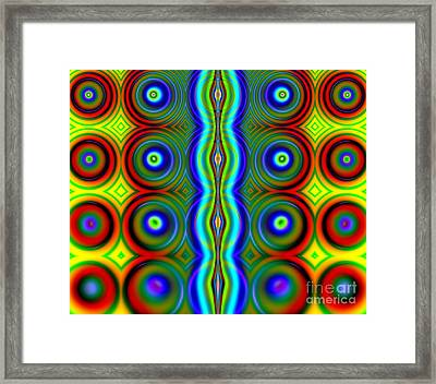 Candy Dots Fractal Framed Print by Rose Santuci-Sofranko