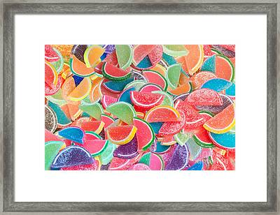 Candy Fruit Framed Print by Alixandra Mullins