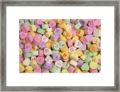 Candy Heart Message 2 Framed Print by Regina  Williams