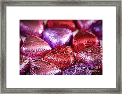 Candy Hearts Framed Print by Elena Elisseeva