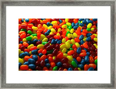Candy Jelly Beans Framed Print