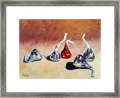 Candy Kisses Framed Print by Helen Eaton