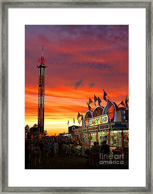 Candy Land Framed Print by Olivier Le Queinec