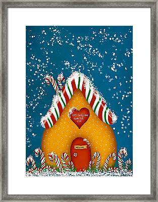 Candy Lane Framed Print by Brenda Bryant