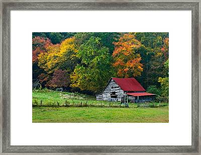 Candy Mountain Framed Print by Debra and Dave Vanderlaan