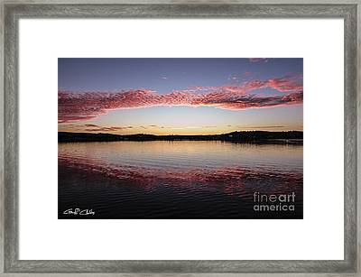 Candy Pink Reflections - Sunrise Framed Print by Geoff Childs