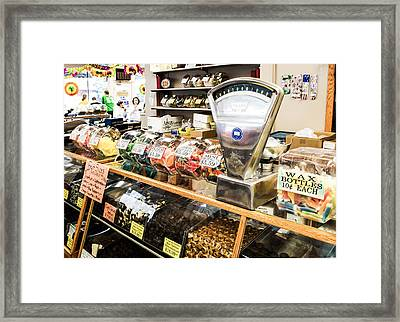Candy Please Framed Print by Tom Causley