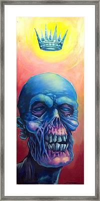Candy Pop Zombie King Framed Print by Seth Fyffe