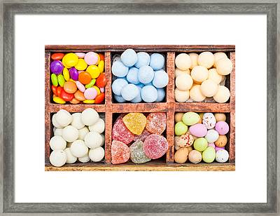 Candy Selection Framed Print by Tom Gowanlock
