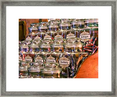 Candy Stick Store-color Framed Print