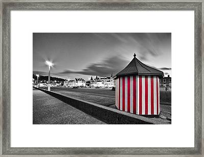 Candy Stripe Kiosk Framed Print