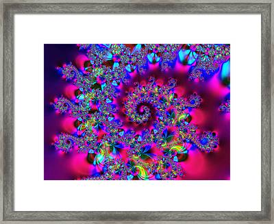 Candy Swirl Framed Print