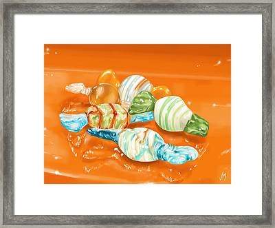Candy Framed Print by Veronica Minozzi