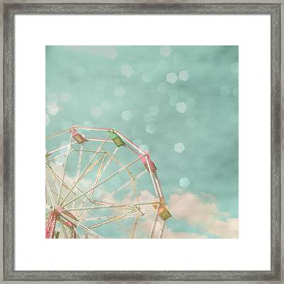 Candy Wheel Framed Print by Cassia Beck