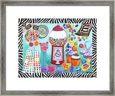 Framed Print featuring the painting Candy Window by Carla Bank