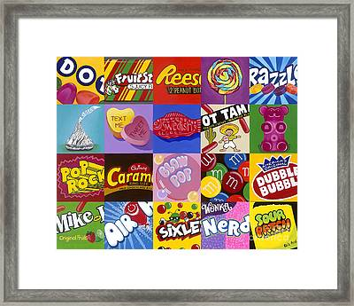 Candy Wrappers Framed Print by Carla Bank