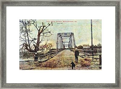 Cane River Bridge C1909 Framed Print