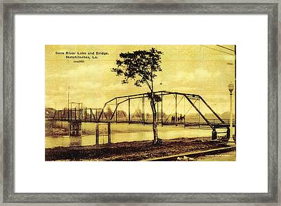 Cane River Lake And Bridge C1921 Framed Print