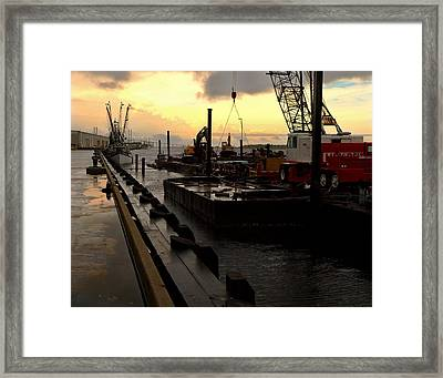 Framed Print featuring the photograph 'cane's Comin' by Laura Ragland