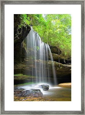 Caney Creek Falls Framed Print by Scott Moore