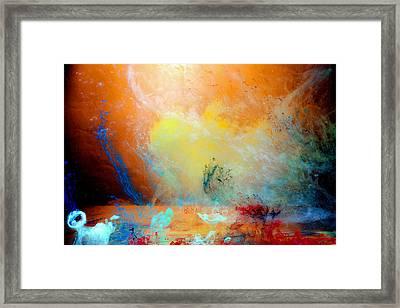 Canis De Galactic Framed Print by Petros Yiannakas