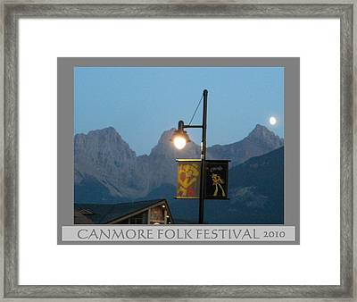 Canmore Folk Festival Framed Print by Cathy Long