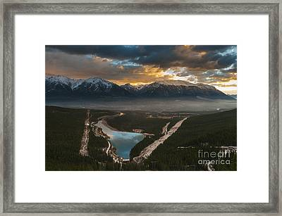 Canmore Sunrise Framed Print by Ginevre Smith