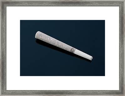 Cannabis Cigarette Framed Print by Adam Hart-davis