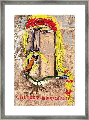 Cannabis High Framed Print by Joe Jake Pratt