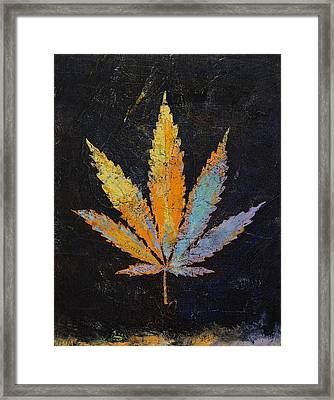 Cannabis Framed Print by Michael Creese