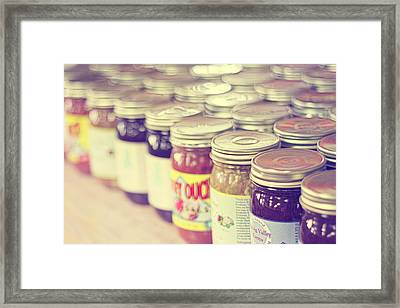 Canned Framed Print by Amy Tyler