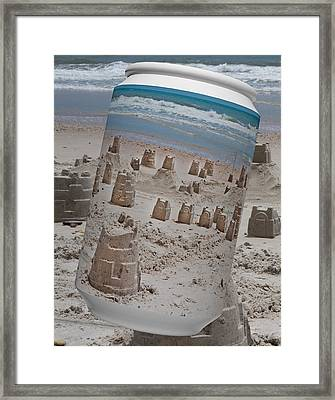 Canned Castles Framed Print by Betsy Knapp