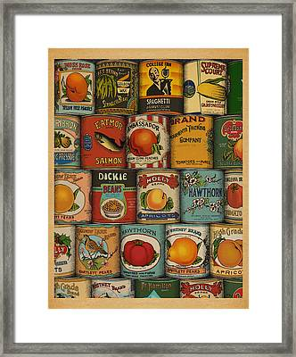 Canned Framed Print