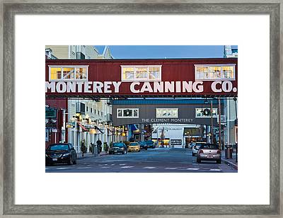 Cannery Row Area At Dawn, Monterey Framed Print