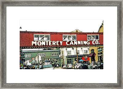 Cannery Row - Monterey Bay Framed Print