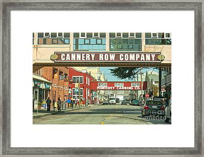 Cannery Row Monterey California Framed Print by Artist and Photographer Laura Wrede